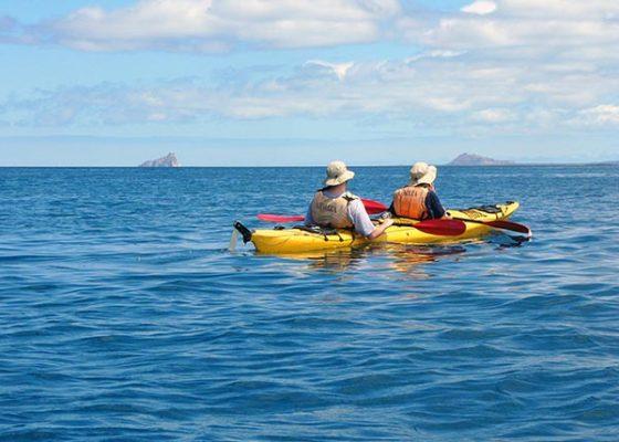 kayaking tijeretas galapagos